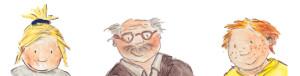 """Was macht ein Winzer? Kalle, Mia und Opa Erwin aus dem Kinderbuch """"Kalle im Wingert"""""""