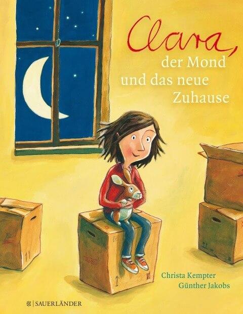 Bilderbuch zum Thema Umzug: Clara, der Mond und das neue Zuhause