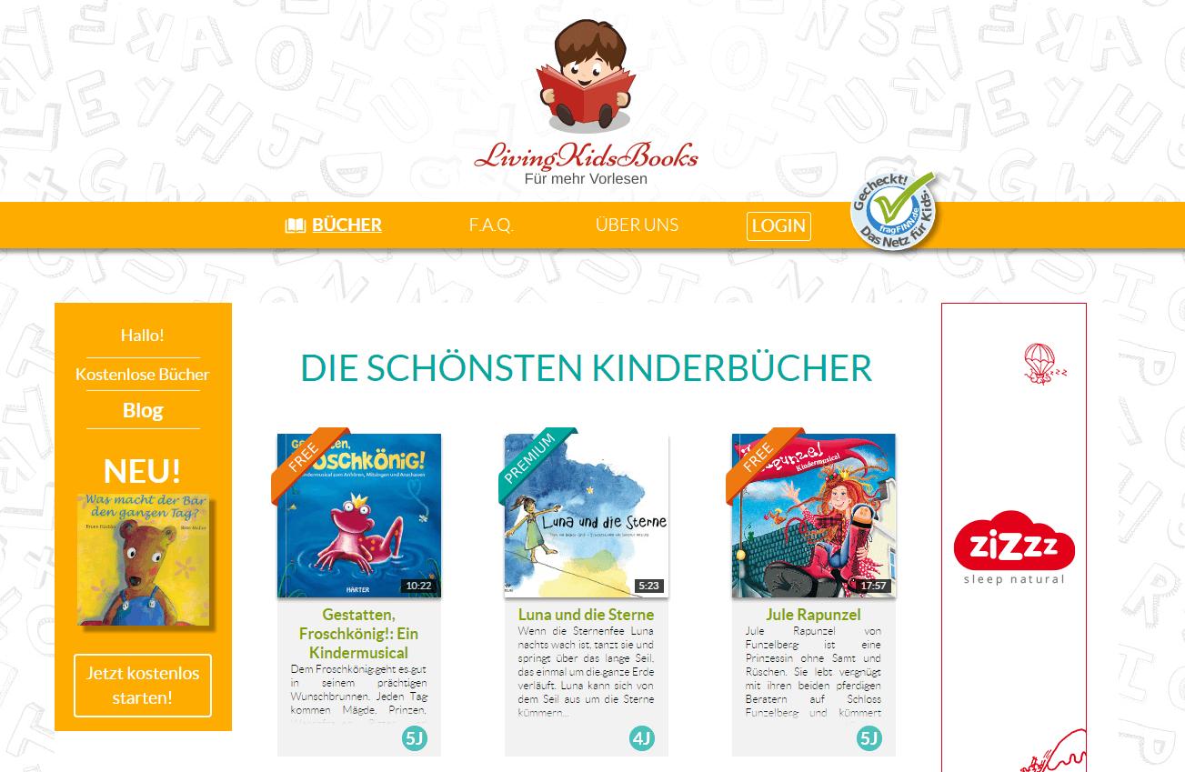 Living Kids Books Kinderbücher online vorlesen lassen