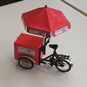 Fahrrad der Statdbibliothek Mannheim