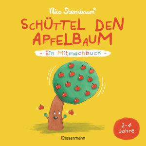 Schüttel den Apfelbaum. Interaktives Pappbilderbuch für Kinder ab 2 Jahren