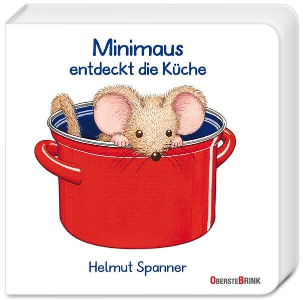 Pappbilderbuch von Helmut Spanner Minimaus entdeckt die Küche. Ausgezeichnet mit dem 10. Buchkönig Kinderbuchpreis