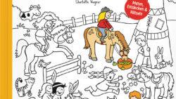 Pony Pauline - Abenteuer auf dem Pferdehof. Wimmelbuch zum Ausmalen und Rätseln