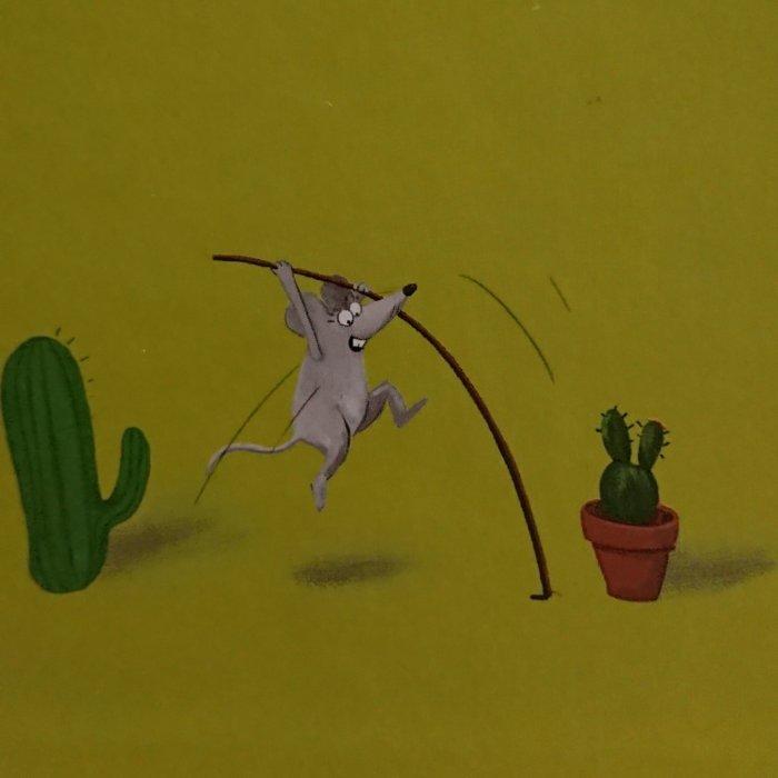 Sport im Vier Farben Land: Kaktus hüpfen