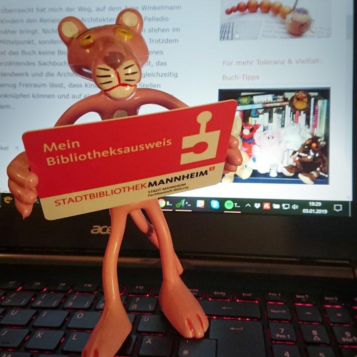 Mein Bücherei-Ausweis der Stadtbibliothek Mannheim könnte dieses Jahr die Quelle für Bücher für meinen Blog werden.