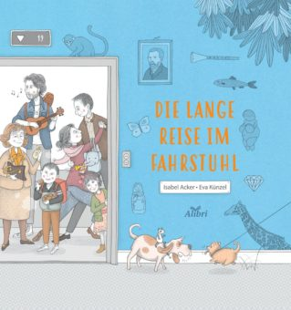 Bilderbuch: Die lange Reise im Fahrstuhl. Nachbarn aus aller Welt treffen sich morgens im Fahrstuhl.