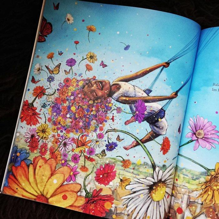 Innenseite aus dem Bilderbuch: Wenn die Jahreszeiten träumen.