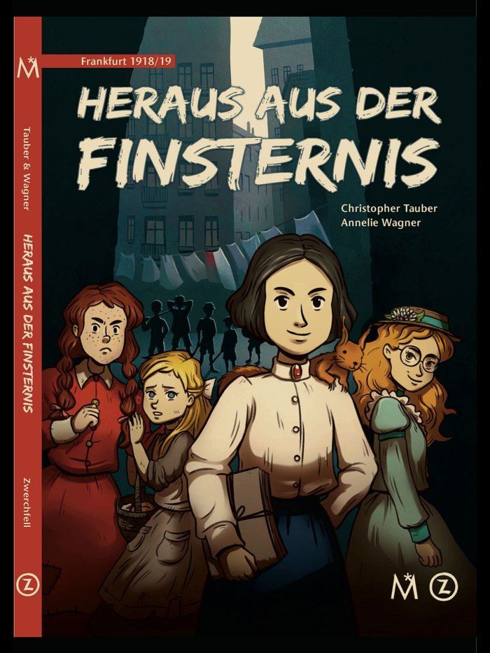 Kindercomic zu Frauenwahlrecht und sozialer Gerechtigkeit, der in Frankfurt im Jahr 1918 spielt.