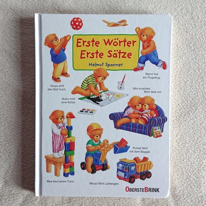 Pappbilderbuch - Erste Wörter, erste Sätze von Helmut Spanner. Über 100 erste Sätze zeigen, wie einfach der Weg in die Welt der Sprache und der Satzbildung ist.
